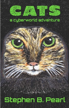 Cats - a cyberworld adventure book cover - cyberpunk, science fiction, gamelit novel