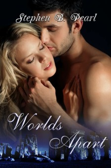 Worlds Apart book cover - paranormal romance novel