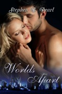 Worlds Apart book cover - paranormal, modern fantasy, romance novel, coming soon.